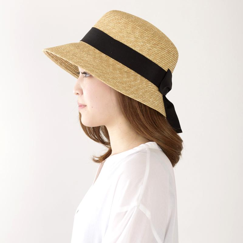田中帽子店 uk-h008 Anne アンヌ つば(短) 中麦女優帽 (57.5cm)