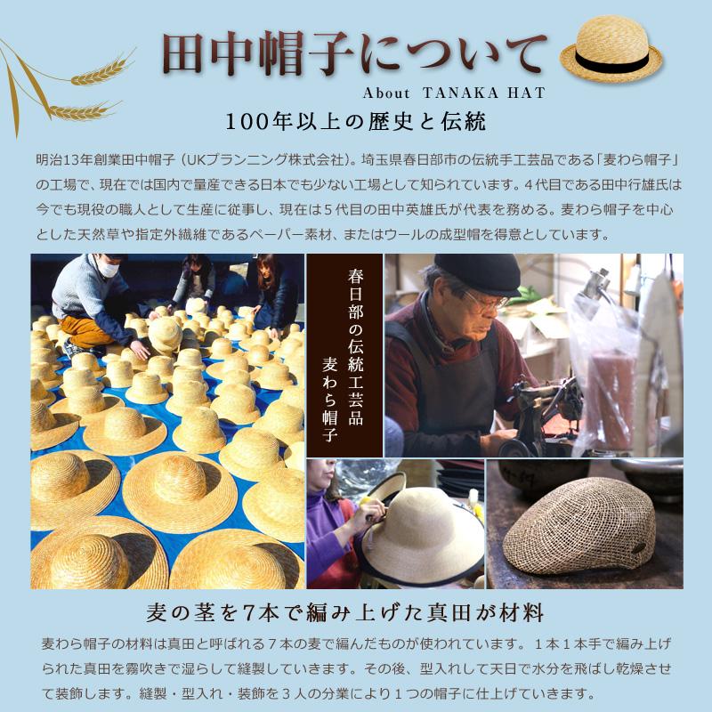 田中帽子(たなかぼうし)子供用セーラー麦わら帽子 田中帽子の歴史 春日部の伝統工芸品・麦わら帽子