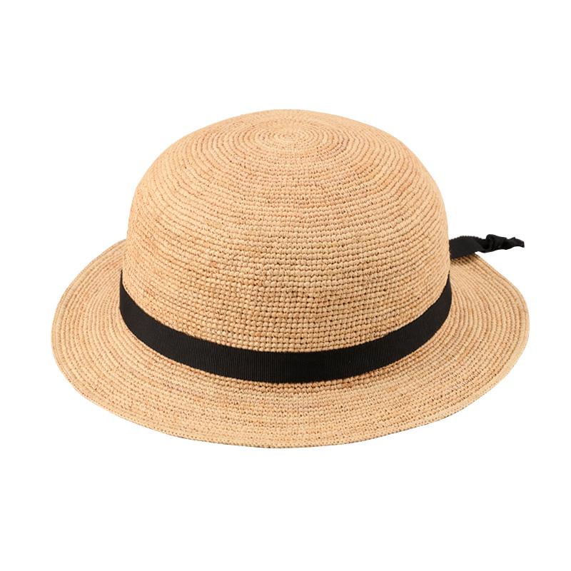 田中帽子店 uk-h011-su Sunny サニー ラフィア 子供用帽子 50cm 52cm 54cm  ナチュラル