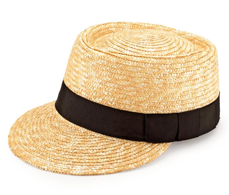 """田中帽子店 uk-h027 Mathis マチス 婦人用 麦わら キャップ 57cm """"カジュアルでボーイッシュな印象の麦わらキャップ 従来の麦わら帽子のイメージとは違った、スマートカジュアル感があふれるデザイン。つば広型やハット型が多い麦わら帽子ですが、個性的で珍しいキャップ型に仕上げました。キャップと言っても大人の女性を意識したすっきりとした印象。 生成りのナチュラルカラーで作られたシンプルなデザイン。"""