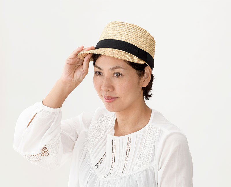 田中帽子店 uk-h027 Mathis マチス 婦人用 麦わら キャップ 57cm  キャンプやサイクリング、夏フェスなどアウトドアにぴったり! ショッピングなどの普段のお出かけはもちろん、キャンプや夏フェスなどのアウトドアイベントでも大活躍。またツバを後ろにして被れば風で飛ばされる心配がないのでサイクリングにも。日本人用の木型・金型で製造しているためフィット感が抜群。また、サイズを小さくする微調整を内部の調整テープで行うことが出来ます。