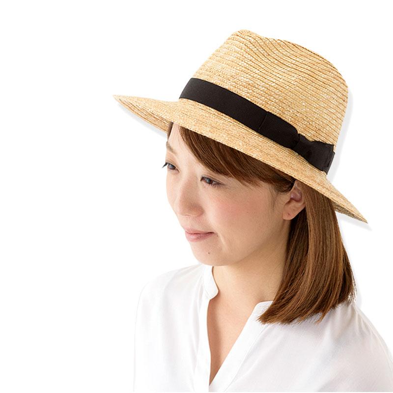 田中帽子店 uk-h070 Emma エマ つば広中折れ(婦人用)