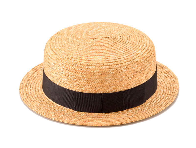 田中帽子 親子ペア カンカン帽子 麦わら帽子 日本製 ストローハット 中折れ 細麦