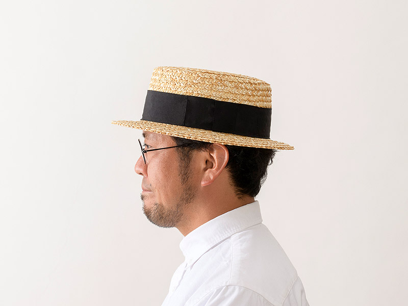 【田中帽子店】uk-h048 田中帽子店 鬼麦カンカン帽