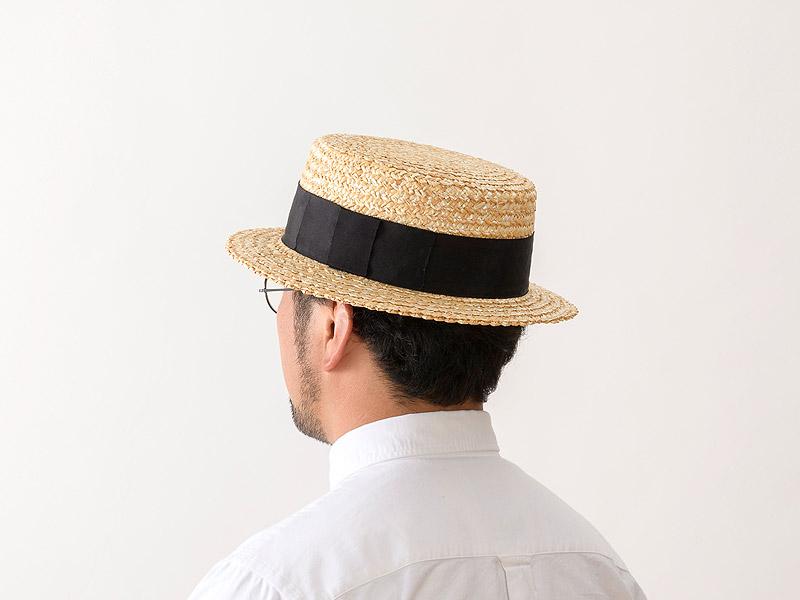 【田中帽子店】uk-h048 田中帽子店 鬼麦カンカン帽ト