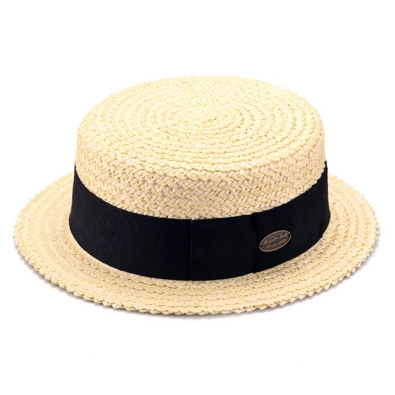 田中帽子店 uk-h054 Brice ブリス ラフィア ポークパイハット(57.5cm/59cm)