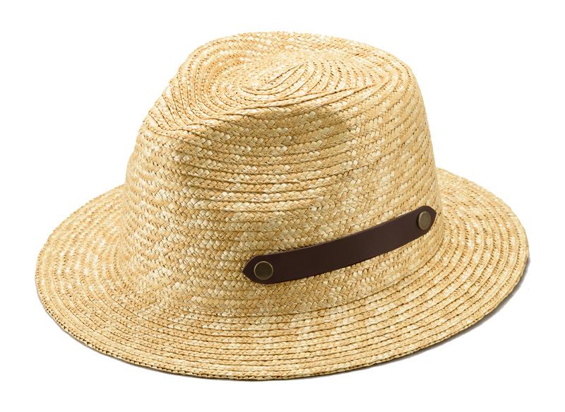 田中帽子店 uk-h051 Samy サミー フェドラー型 太麦 麦わら帽子 100年以上の歴史と伝統を誇る老舗が作った逸品。スマートなデザインのフェドラー型麦わら帽子。