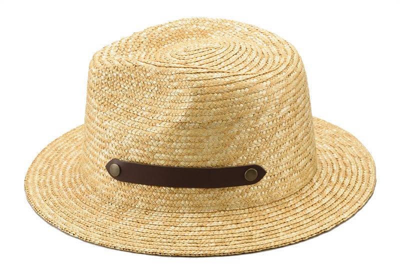 田中帽子店 uk-h051 Samy サミー フェドラー型 太麦 麦わら帽子 日本の職人が丁寧に仕上げた証 帽体は日本人にあった木型で作られているのでフィット感が抜群!帽子の内側には、ブランドネームが縫われています。