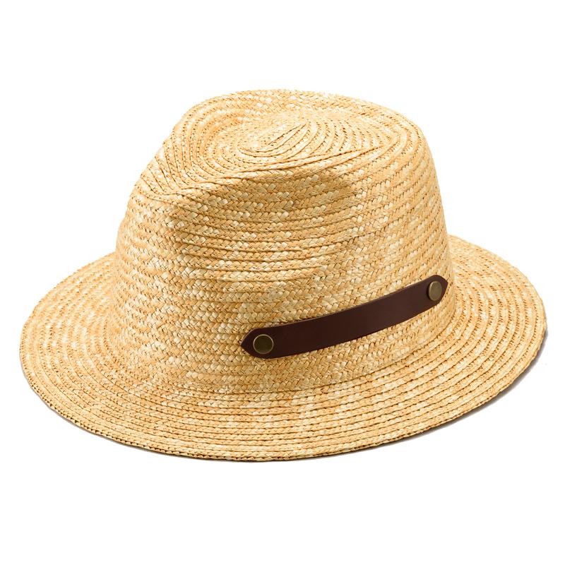 田中帽子店 uk-h051 Samy サミー フェドラー型 太麦 麦わら帽子 ナチュラル