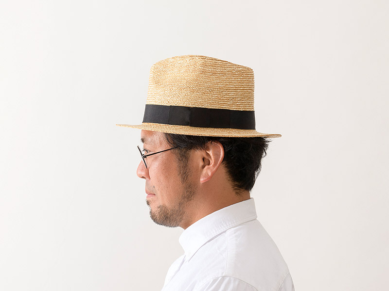 田中帽子店 uk-h052 Glan グレン フェドラー型 中折れ 麦わら 帽子