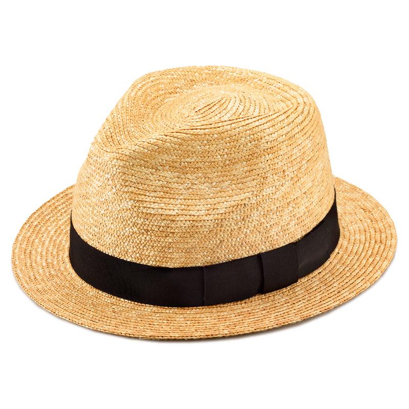 田中帽子店 uk-h052 Glan グレン フェドラー型 中折れ 麦わら 帽子 ナチュラル