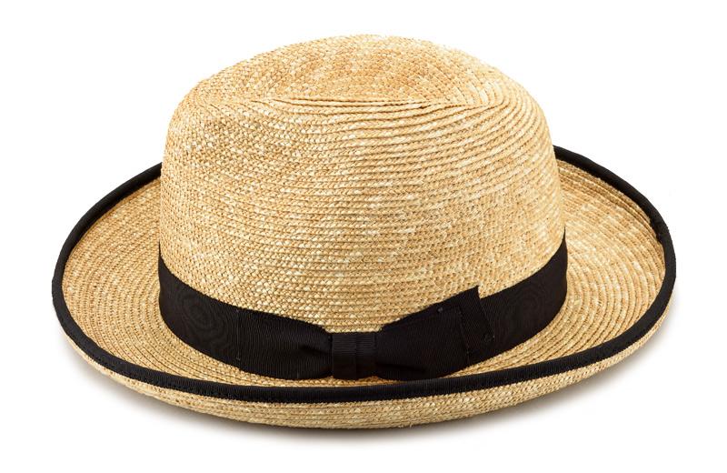 田中帽子店 uk-h053 Marc マルク ホンブルグ 麦わら帽子(58.5cm) 帽体は日本人にあった木型で作られているのでフィット感が抜群!帽子の内側には、ブランドネームが縫われています。