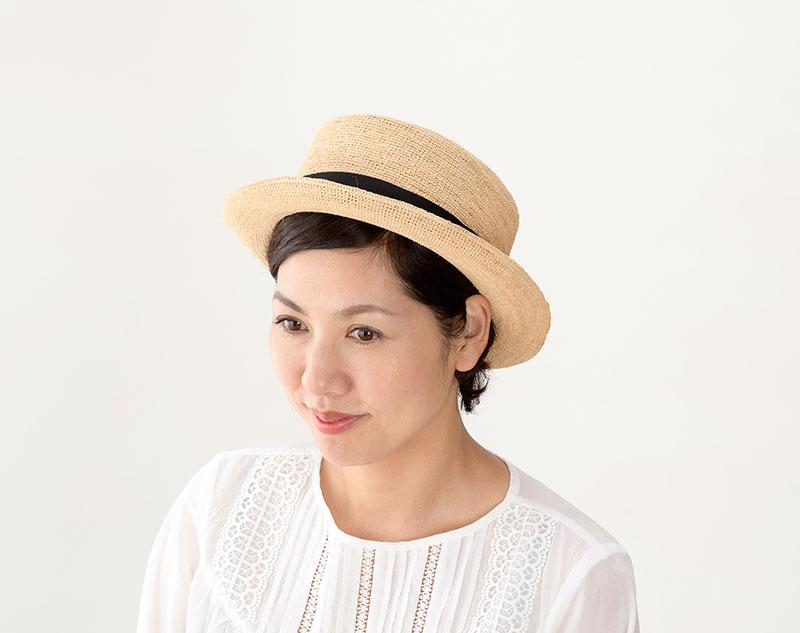 田中帽子店 uk-h054 Brice ブリス ラフィア 紳士用 ポークパイハット(57.5cm/59cm)