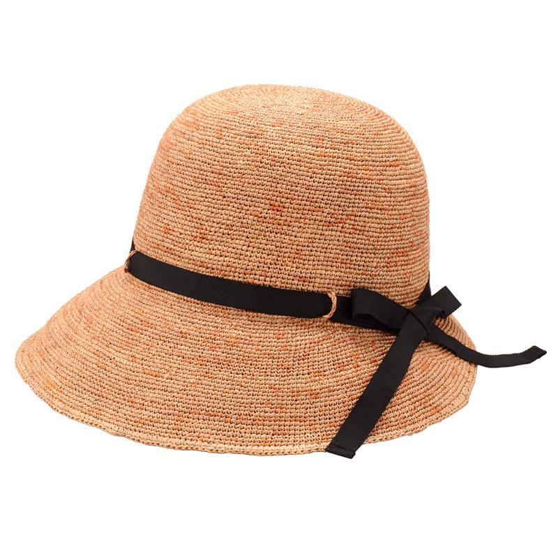 田中帽子店 uk-h055 Chloe クロエ ラフィア 女優帽(58cm・60cm)