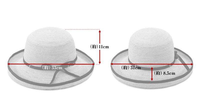 田中帽子店 uk-h056 Flore フローラ ラフィア エッジアップ
