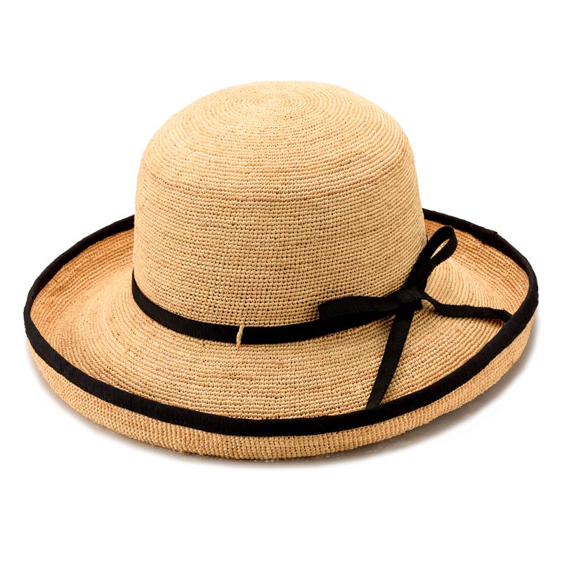 田中帽子店 uk-h056 Flore フローラ ラフィア エッジアップ ナチュラル