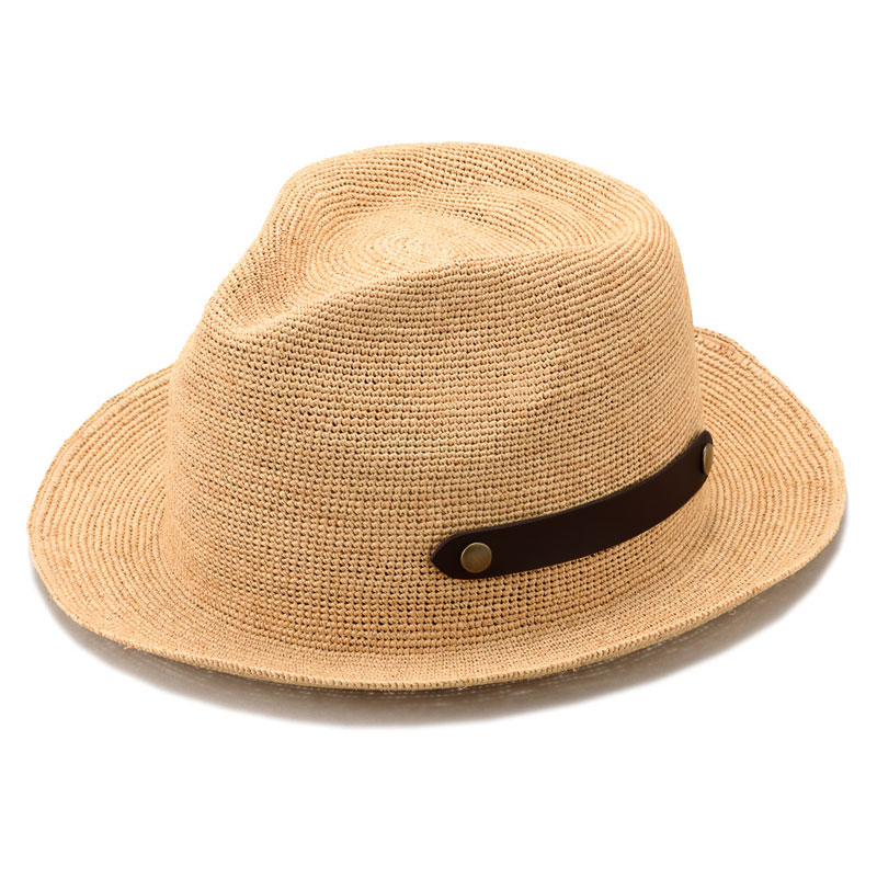 田中帽子店 uk-h057 Paulo ポーロ ラフィア 中折れ帽子(58cm/60cm)