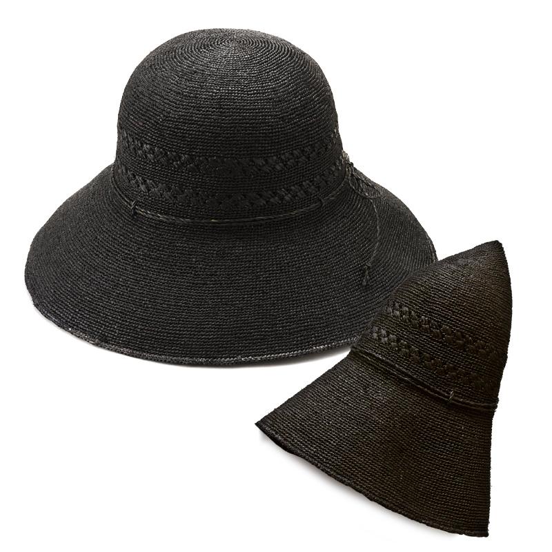 田中帽子店 uk-h058 Marie マリー ラフィア レース編み つば広帽子(58cm)飽きの来ないデザインなので、スカートはもちろん、ワンピースやデニムなど、さまざまなスタイルに合います。