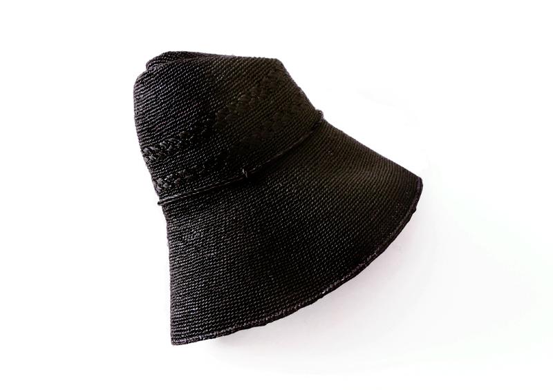 田中帽子店 uk-h058 Marie マリー ラフィア レース編み つば広帽子(58cm)帽子を平らにしてくるっと巻けば、バッグに収納することができます。 柔らかな素材の帽子なので、広がらず、コンパクトに持ち運び可能です。