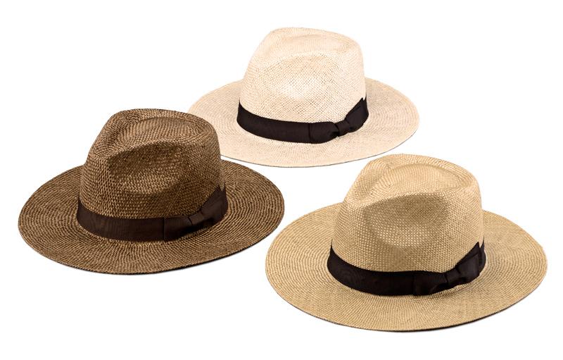 田中帽子店 uk-h059 Cyril シリル ケンマ草 フェドラー型 つば広 中折れ帽子 100年以上の歴史と伝統を誇る老舗が作った逸清涼感のある天然素材、ケンマ草で作ったつば広中折れ帽子。