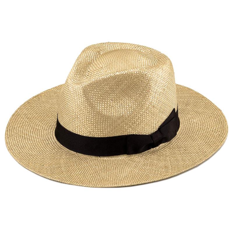 田中帽子店 uk-h059 Cyril シリル ケンマ草 フェドラー型 つば広 中折れ帽子 ベージュ