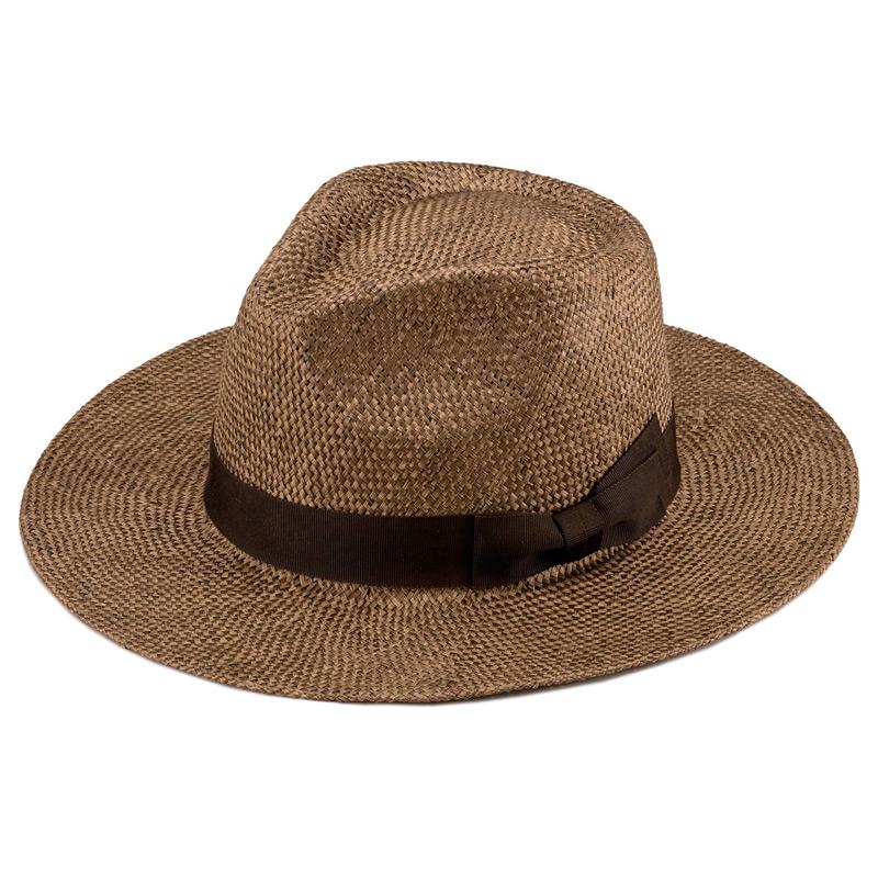 田中帽子店 uk-h059 Cyril シリル ケンマ草 フェドラー型 つば広 中折れ帽子 ブラウン