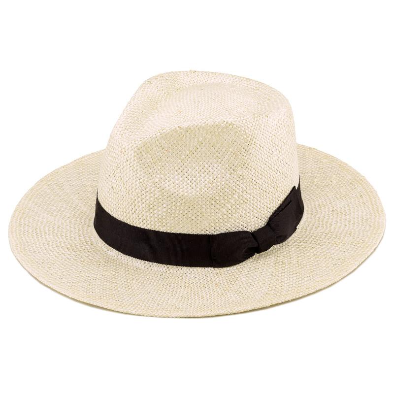 田中帽子店 uk-h059 Cyril シリル ケンマ草 フェドラー型 つば広 中折れ帽子 ナチュラル