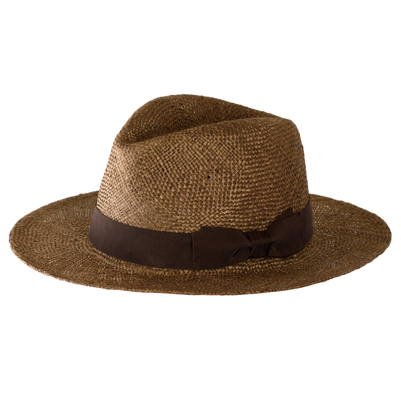 田中帽子店 uk-h060 Odette オデット ケンマ草 婦人用 つば広 中折れ 帽子 ( 57.5cm )COLOR VARIATION ブラウン