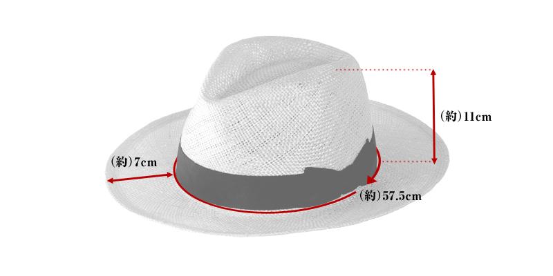 田中帽子店 uk-h060 Odette オデット ケンマ草 婦人用 つば広 中折れ 帽子 ( 57.5cm )