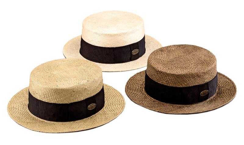 田中帽子店 uk-h061 Margot  h マルゴ オム ケンマ草 カンカン帽 (60cm) 100年以上の歴史と伝統を誇る老舗が作った逸品。清涼感のある天然素材、ケンマ草で作った紳士用カンカン帽。