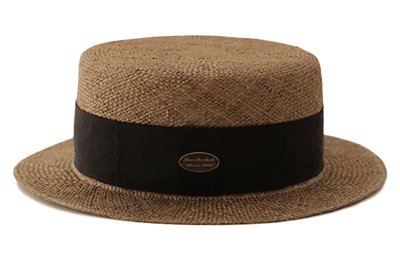 田中帽子店 uk-h051 Margot  h マルゴ オム ケンマ草 カンカン帽 (60cm) 日本の職人が丁寧に仕上げた証 帽体は日本人にあった木型で作られているのでフィット感が抜群!帽子の内側には、ブランドネームが縫われています。