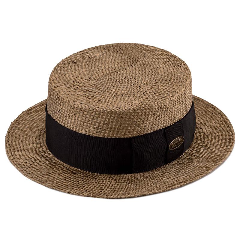 田中帽子店 uk-h051 Margot  h マルゴ オム ケンマ草 カンカン帽 (60cm) ブラウン