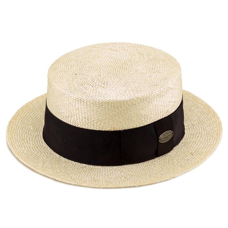 田中帽子店 uk-h051 Margot  h マルゴ オム ケンマ草 カンカン帽 (60cm) ナチュラル