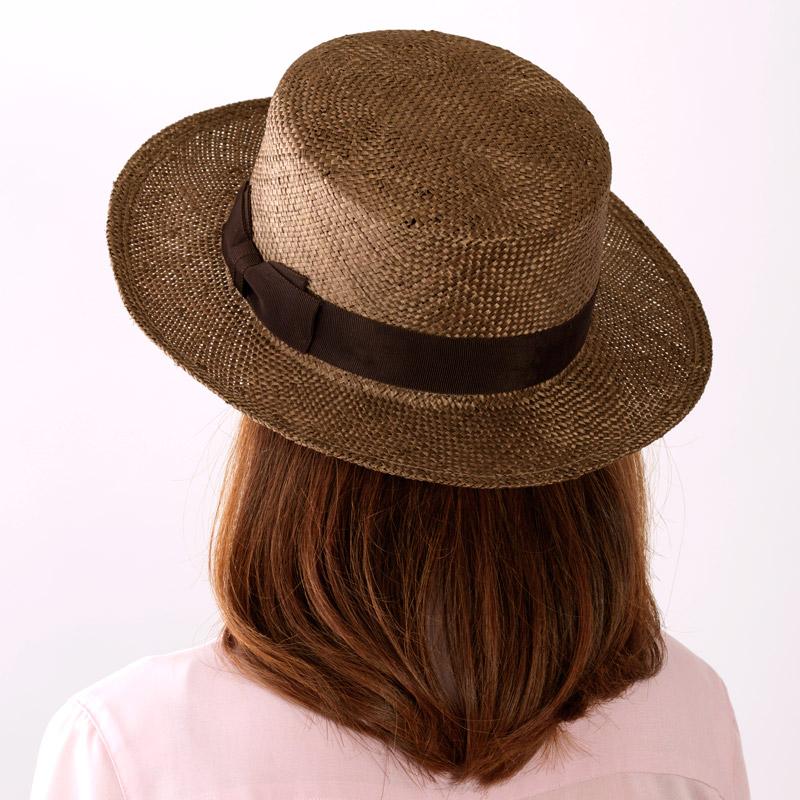 田中帽子店uk-h062Margotfマルゴフェムケンマ草婦人用カンカン帽(57.5cm)