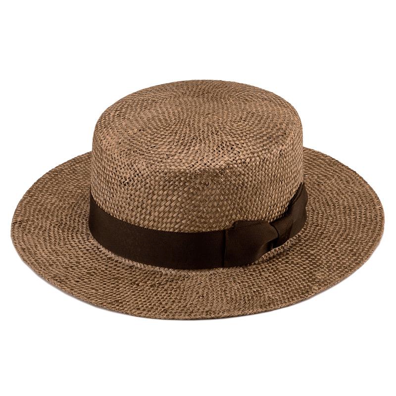 田中帽子店uk-h062Margotfマルゴフェムケンマ草婦人用カンカン帽(57.5cm)COLOR VARIATIONブラウン