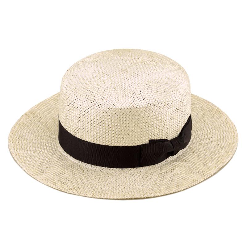 田中帽子店uk-h062Margotfマルゴフェムケンマ草婦人用カンカン帽(57.5cm)COLOR VARIATIONナチュラル