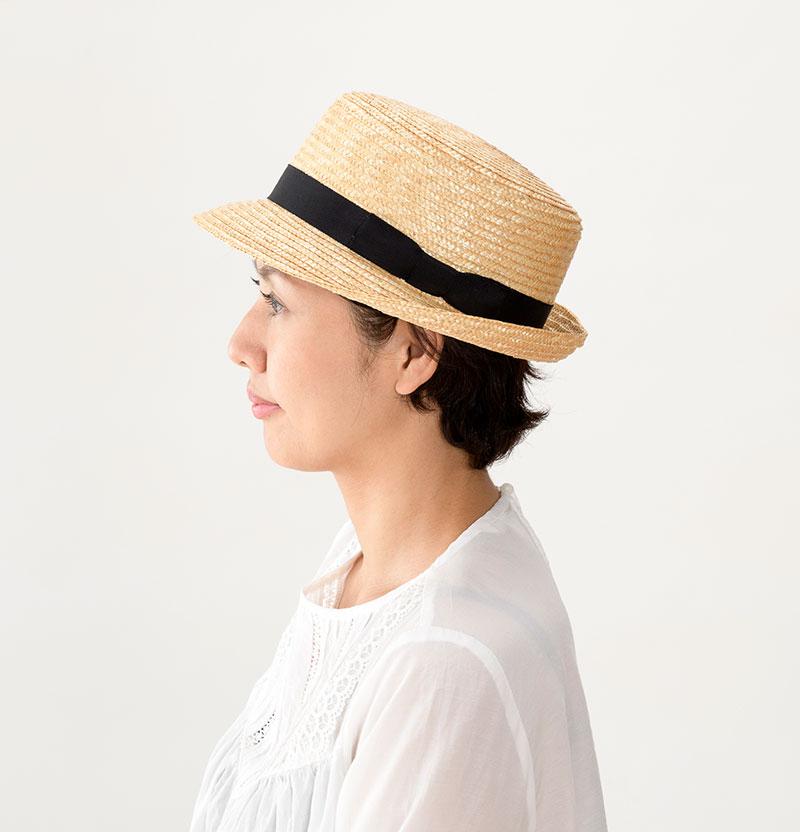 田中帽子店 uk-h064 Colette コレット カンカン型 中折れハット 57.5cm