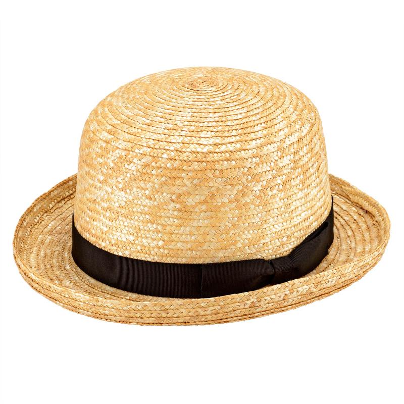 田中帽子店 uk-h065 Carla カーラ ボーラーハット 麦わら帽子 57.5cm  ナチュラル