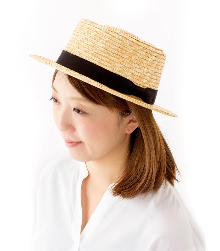 田中帽子店 uk-h066 Karima カリマ ポークパイ型 つば広ハット 57.5cm 人気上昇中!ナチュラルスタイルに合う、カンカン帽に似たデザインの麦わら帽子
