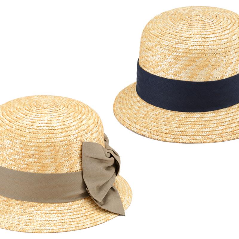 田中帽子店 uk-h069 Sala サラ 麦わら クロッシェ 57.5cm 機能性も備えた伝統手工芸品 麦わら帽子に使われるのは主に大麦の茎。それを7本組み、真田ひも状に編んだ「麦わら真田」が材料です。麦わらは空気をよく通し、帽子内にこもりがちな熱を放出し、熱中症対策にもなります。湿度の高い日本の夏こそ、昔ながらの麦わら帽子の良さを実感してください。もちろん、ギフトにも喜ばれます。