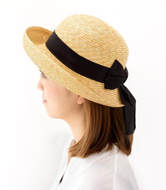 田中帽子店 uk-h071 Bruton ブルトン 麦わら ブルトン 56.5cm レディース