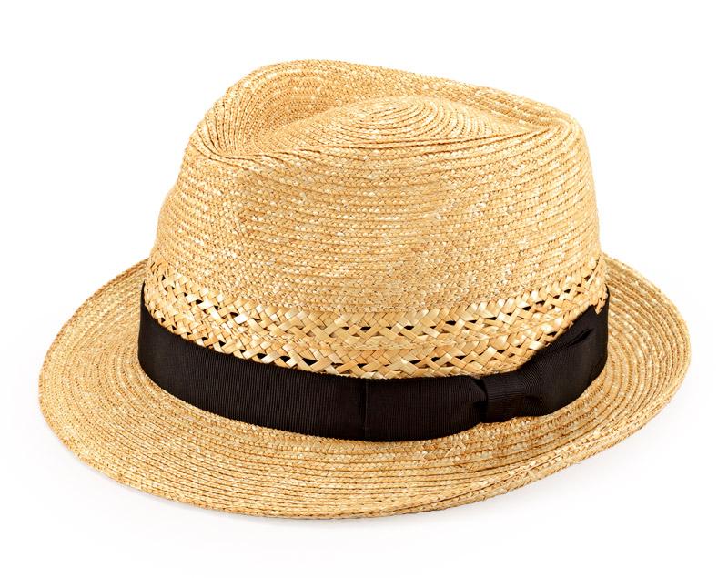 田中帽子店 uk-h073 Timèo ティメオ メッシュ中折れ麦わら帽 男性用 59cm 透かし編みがアクセント。風通しのよい中折れ麦わら帽子