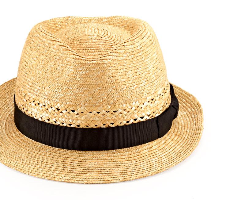 田中帽子店 uk-h073 Timèo ティメオ メッシュ中折れ麦わら帽 男性用 59cm