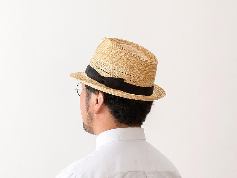 田中帽子店 uk-h073 Timèo ティメオ メッシュ中折れ麦わら帽 男性用