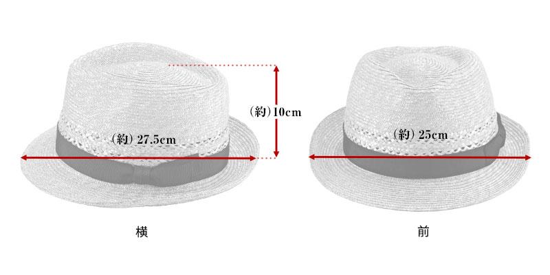 田中帽子店 uk-h073 Timèo ティメオ メッシュ中折れ麦わら帽 男性用 59cm  サイズ