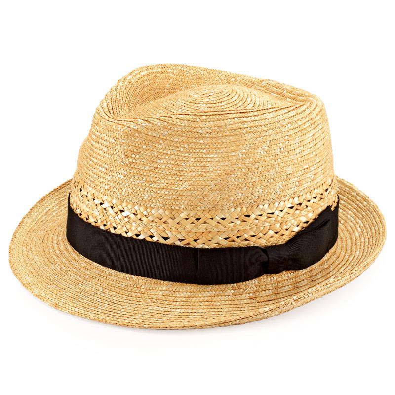 田中帽子店 uk-h073 Timèo ティメオ メッシュ中折れ麦わら帽 男性用 59cm  ナチュラル