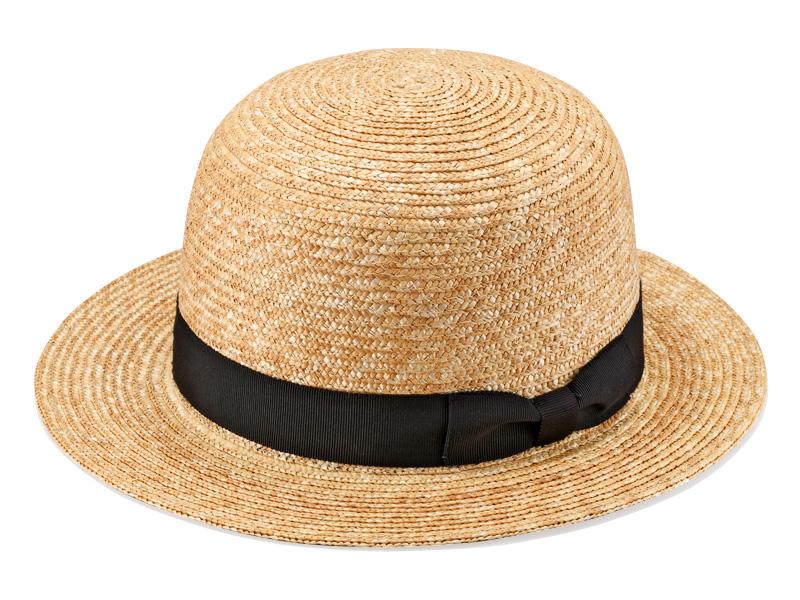田中帽子店 uk-h075 Iris イリス 麦わら 女性用 ポーラーハット 57.5cm 欧米型の頭型を使用したボーラー型の女性用帽子