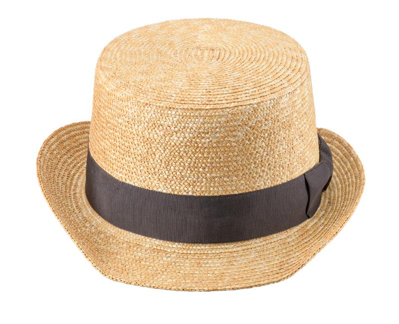 田中帽子店 uk-h076 Olga オルガ 麦わら シルクハット型 カンカン帽子 57.5cm シルクハットのトップ部分を少し短くしたような形が個性的。欧州紳士のトレードマークとも言えるシルクハットを、カンカン帽をべースに比較的低めのクラウンとくるんとしたテンガロンつばを組合せて、より気軽にかぶれるようカジュアルなシルエットに仕上げました。レトロな印象のなかにアレンジを加えた新しい形のシルクハットカンカン帽。普通の帽子じゃ物足りないおしゃれ上級者さんはもちろん、いつもとはちょっと違うワードローブの1点としておすすめです。