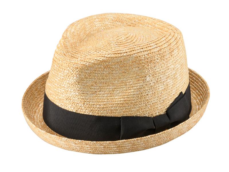 田中帽子店 uk-h077 Lloyd ロイド 麦わら 紳士用 ショートブリム オールアップ 中折れハット 59cm シンプルかつすっきりなシルエット。