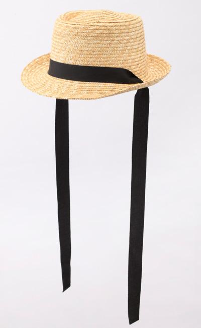 田中帽子店 uk-h078-na Tina ティナ ポークパイ型 カンカン 帽子 麦わら 女性用  ロングリボン ハット 57.5cm アレンジ自由なリボンでバック・フロント・サイド好みのスタイルに変えて楽しめる、遊び心あるデザインです。リボンは取り外し可能で、お手持ちのリボンとも付け替え可能。